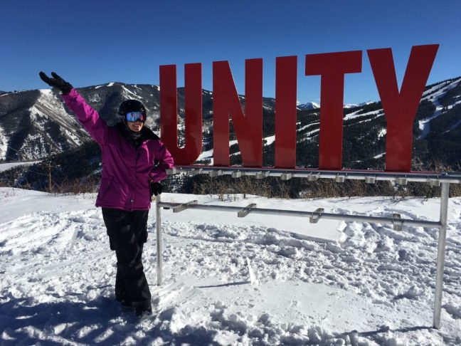 Snowboarding during incentive trip to Aspen
