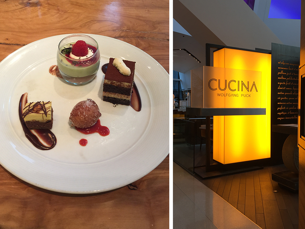 Cucina by Wolfgang Puck was the perfect cap to the Lipsmacking Foodie Tour during corporate event in vegas