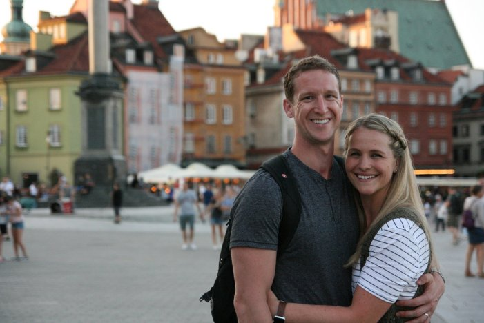 Brie Richards in Old Town Warsaw
