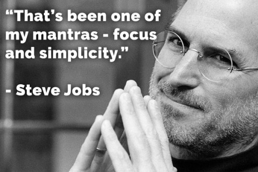 incentive to-dos in 2020, keep it simple with Steve Jobs Mantra