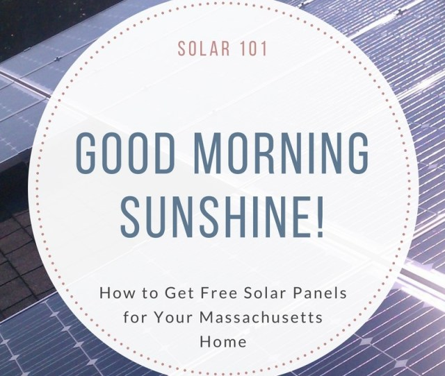 Free Solar Panels Massachusetts