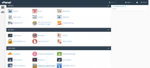 Main CPanel Screen Containing Softaculous Icon