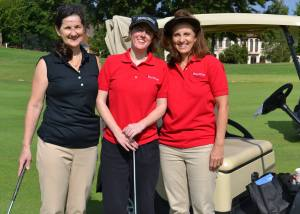 Kate with golfing team mates