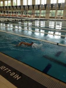 Philip swimming