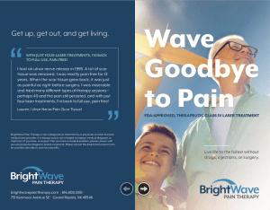 wave goodbye to pain