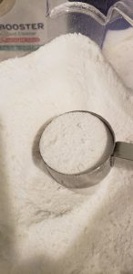 Close up of homemade laundry detergent