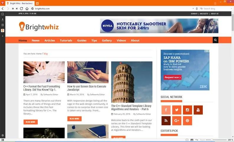 Vivaldi 1.0 Review Bright Whiz