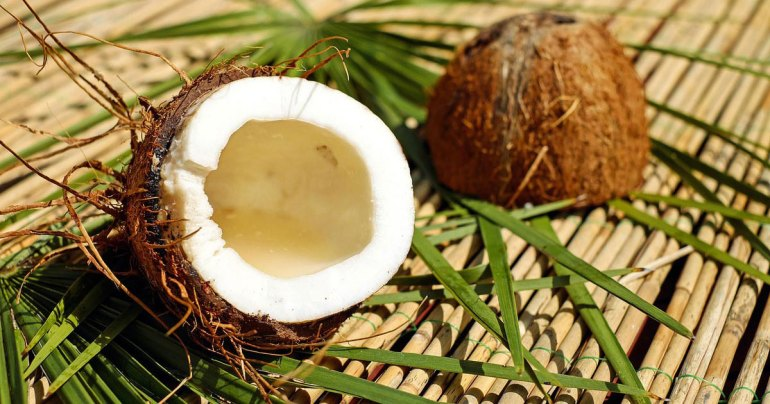 Cracked Open Coconut