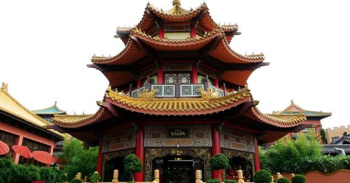 JavaLand 2019 Pagoda China Phantasialand