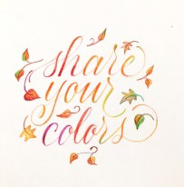 Colored Pencil Calligraphy