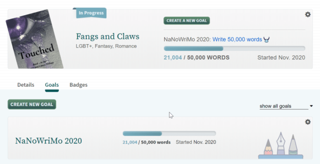 My NaNoWriMo Stats from the website.