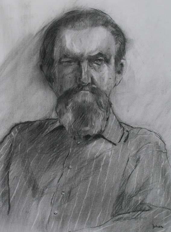 houtskoolportret naar levend model (50x70)