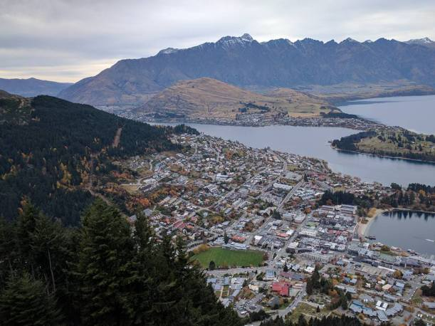 Up in the Air a hillside view of Queenstown:Phot Credit Hayley Burrell