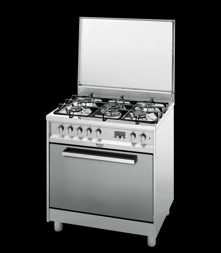 Cucina 80×60 Hotpoint Ariston CP87SEA/HAS forno ventilato, griglie e ...