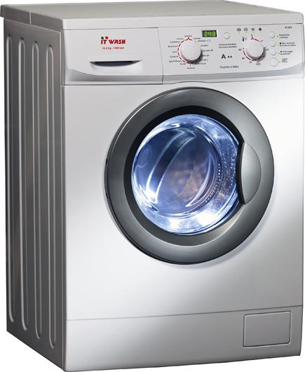 Lavatrice 7kg, Centrifuga 1000 Giri, Classe A++, It Wash, Prodotta In  Italia, 5 Anni Di Garanzia Sulla Scheda