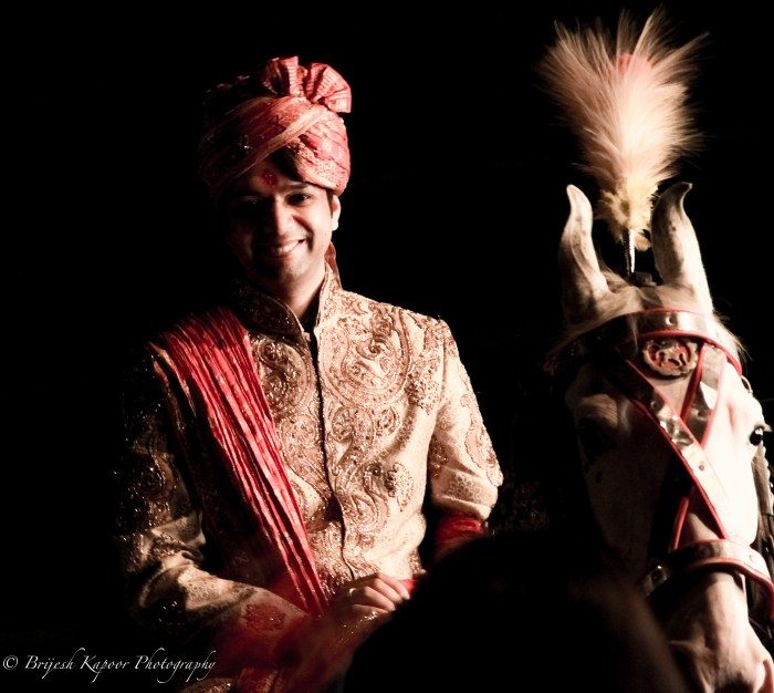 INDIAN GROOM ON A HORSE CANDID WEDDING PICTURE CLICKED BY BRIJESH KAPOOR PHOTOGRAPHY
