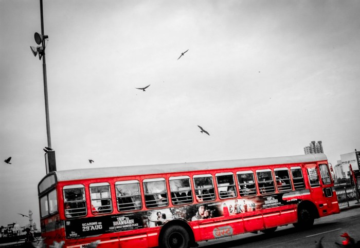 MUMBAI BEST BUS PICTURE SHOT IN THE MONSOON BY BRIJESH KAPOOR PHOTOGRAPHY