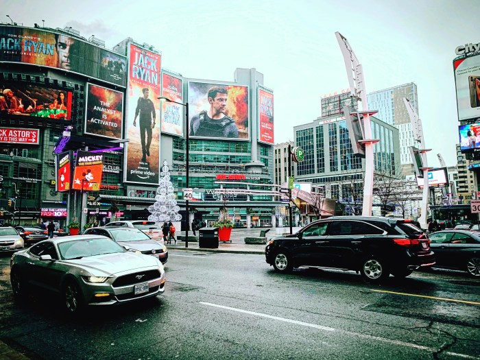 STREET PHOTOGRAPHY AT DUNDAS SQUARE IN TORONTO CANADA BY BRIJESH KAPOOR
