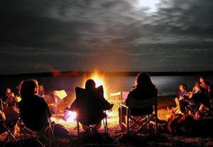 костер пикник отдых топливо брикеты