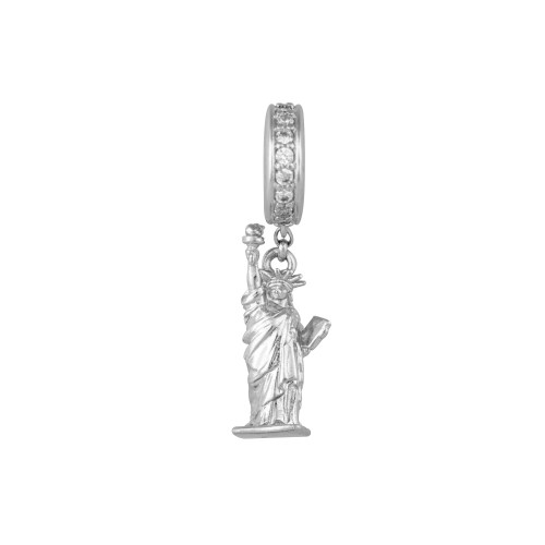 Berloque Estátua da Liberdade prateado Sabrina Joias