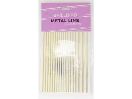 Metal Line Sticker Gold