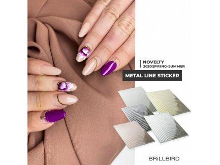 Metal Line Sticker Russian Gold - Brillbird България - Самозалепващи Стикери За Нокти 3
