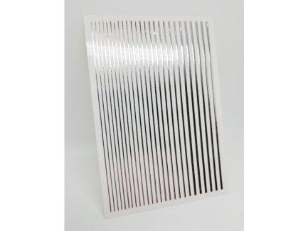 Metal Line Sticker Silver - Brillbird България - Самозалепващи Стикери За Нокти 1