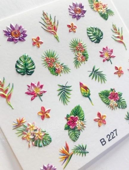3D Стикери за нокти B227, 3D Effect Sticker B227, Brillbird.bg
