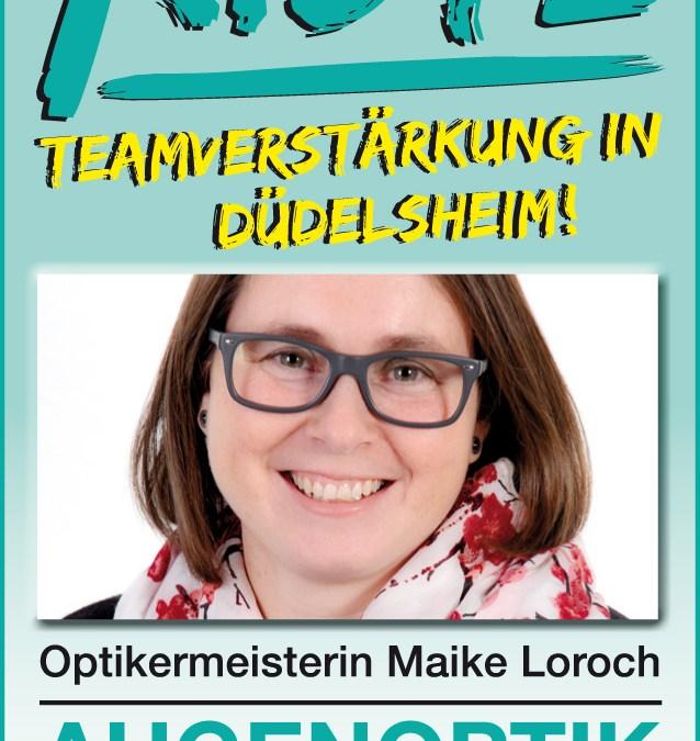 Unsere Teamverstärkung in Düdelsheim: Maike Loroch