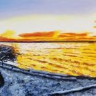 Yellowstone Lake Peninsula Painting