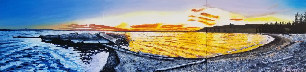 Yellowstone Lake Peninsula Painting