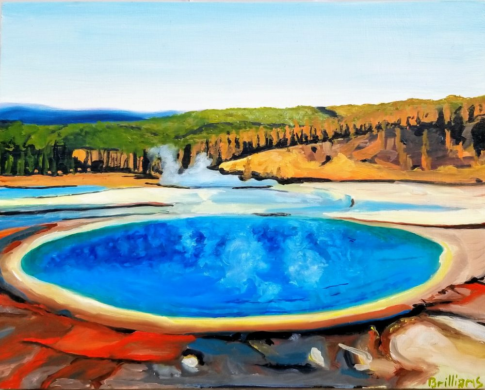 Grand Prismatic Overlook Painting