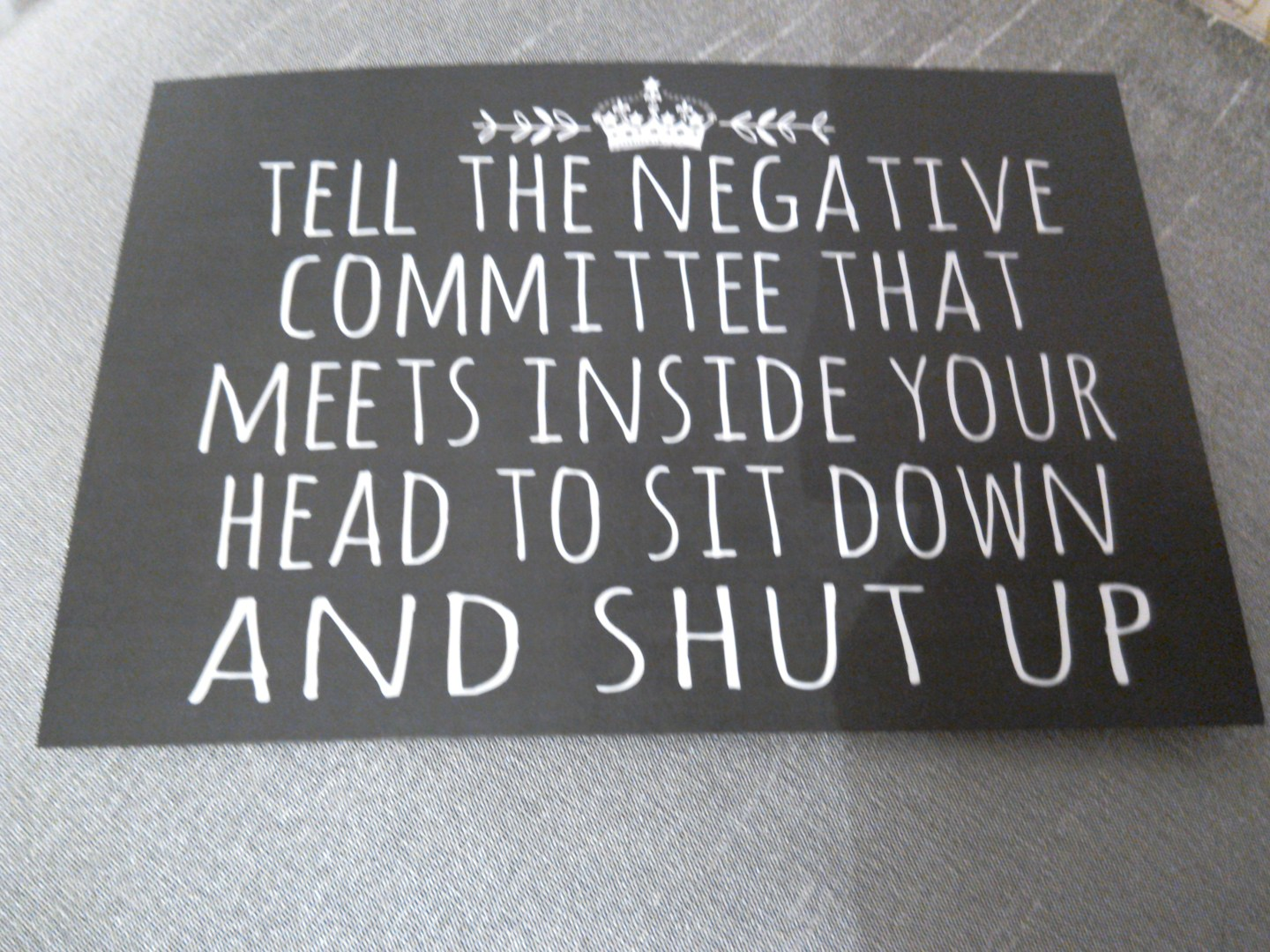 The Negative Committee In Your Head