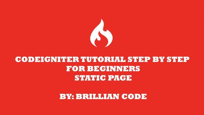 tutorial codeigniter 3 cara membuat static page