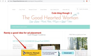 AD placement GHW - Starting a Blog