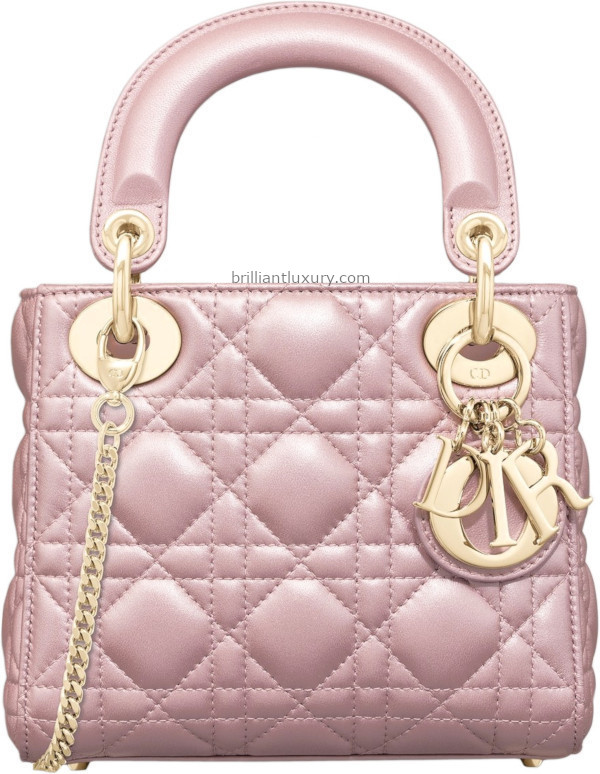 Classic Lady Dior Bags in Lotus Pearly