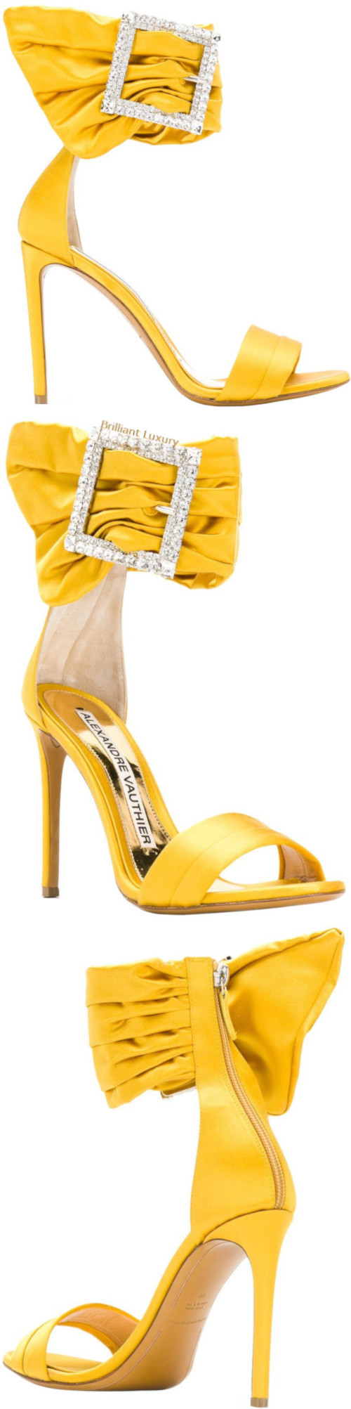 Alexandre Vauthier Yasmin buckled sandals in yellow