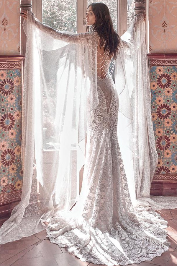 Galia Lahav Victorian Affinity Gown Sterling Cape