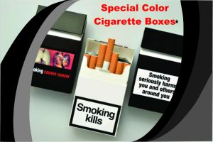 Custom Cigarette Box Packaging Design Template