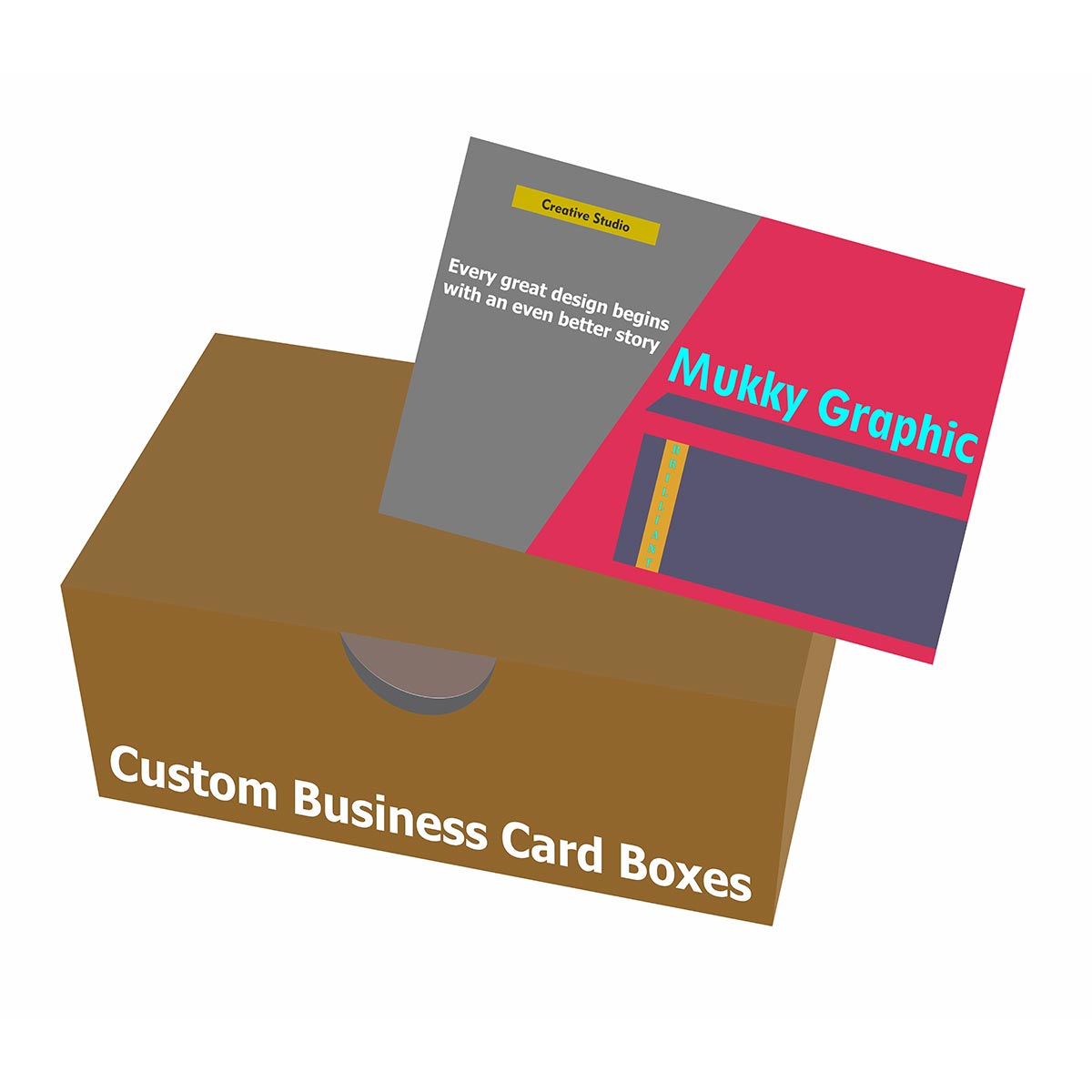 uline business card boxes