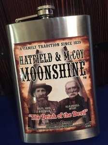 Hatfield McCoy flask