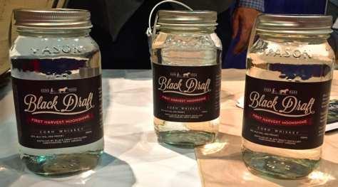 First Harvest Moonshine in Mason jars