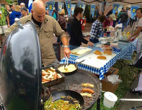 nice variety of food vendors set up shop at the Bramwell Oktoberfest.