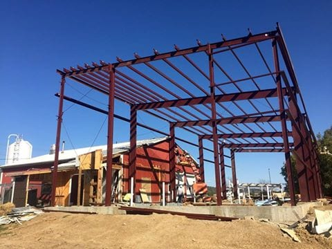 Steel bones are up at Jackie O's brewery