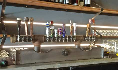 The draft system at Backyard Pizza and Raw Bar has 16 taps.