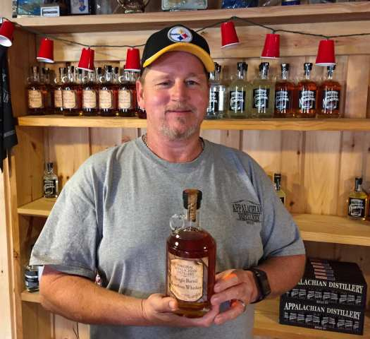 Dwayne Freeman, distiller at Appalachian Distillery,