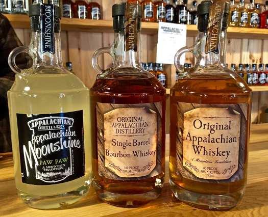 Appalachian Distillery products