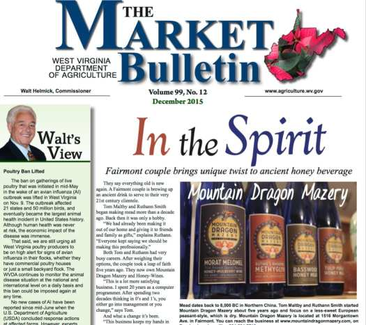 Dragon Mountain meads article from WVDA