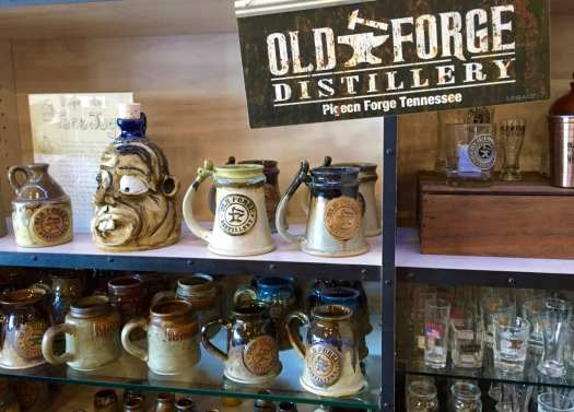 The store at Old Forge Distillery offers a wide array of branded merchandise.