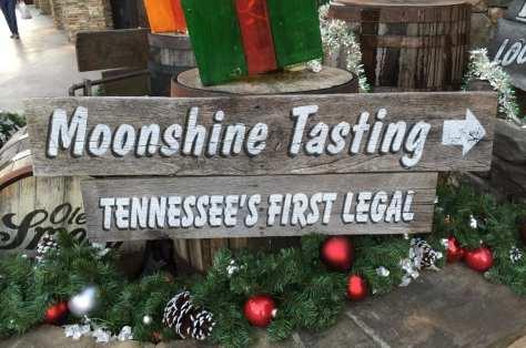 Moonshine tasting sign